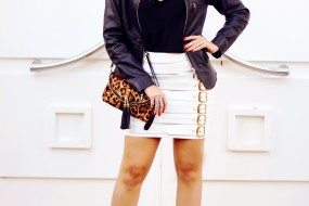 Meu look Carmim – Black and White!!
